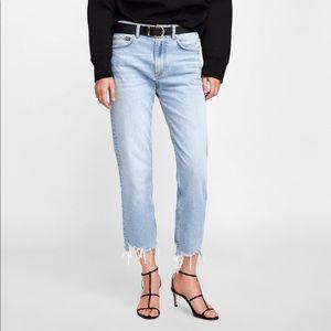 Zara Straight Jeans Sonora Wash